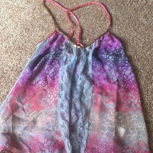 Free People lace and sequin top